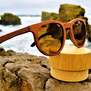 Rose Wood Sunglasses with Brown Lenses Handmade